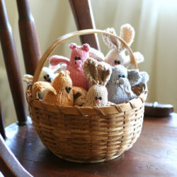 Hand knit toy animals by Yarn Miracle