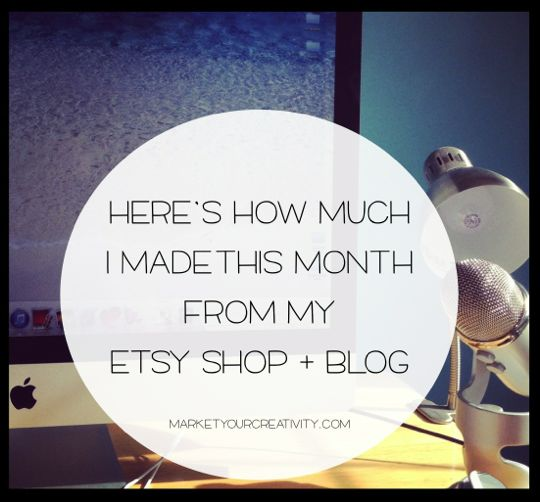How Much I Made in July with my Etsy Shop and blog | Marketing Creativity by Lisa Jacobs