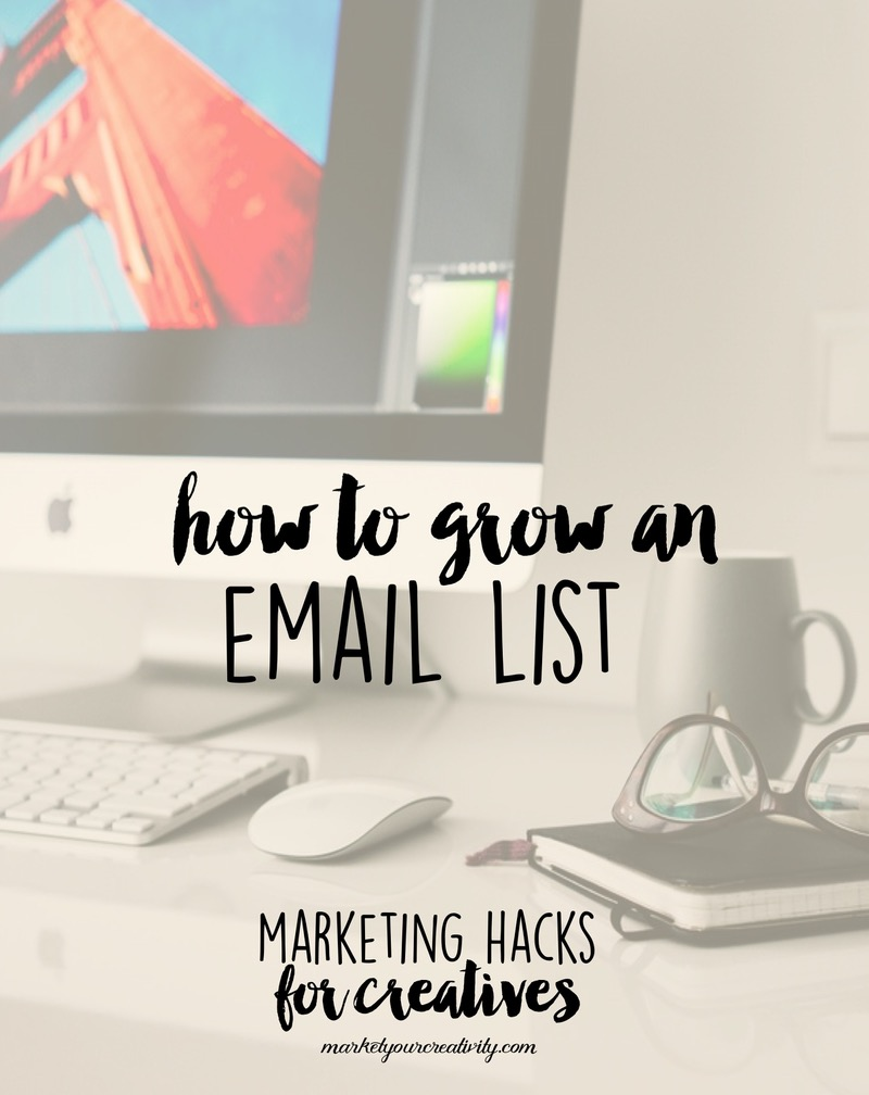 How to grow an email list for your Etsy shop