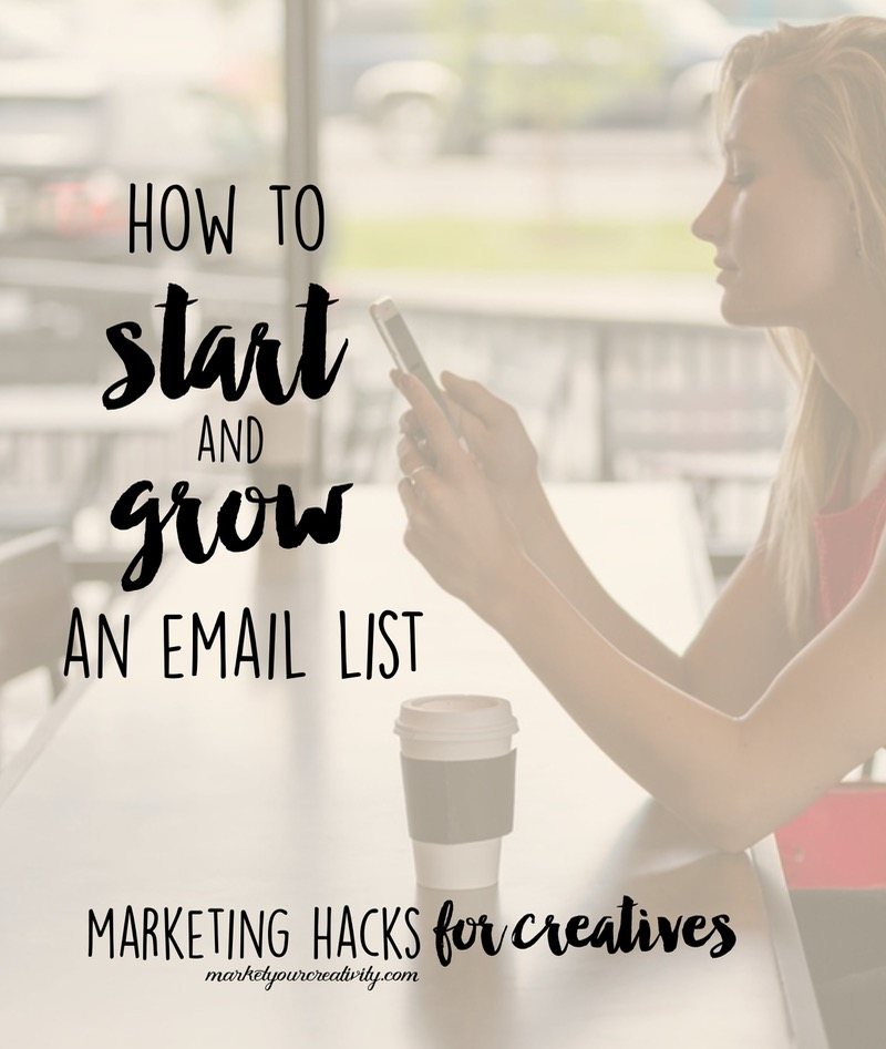 How to start and grow an email list for your Etsy shop or creative business