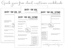 Grab your free ideal customer workbook by Lisa Jacobs