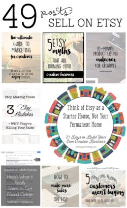 An epic round-up: 49 posts to help you sell on #Etsy