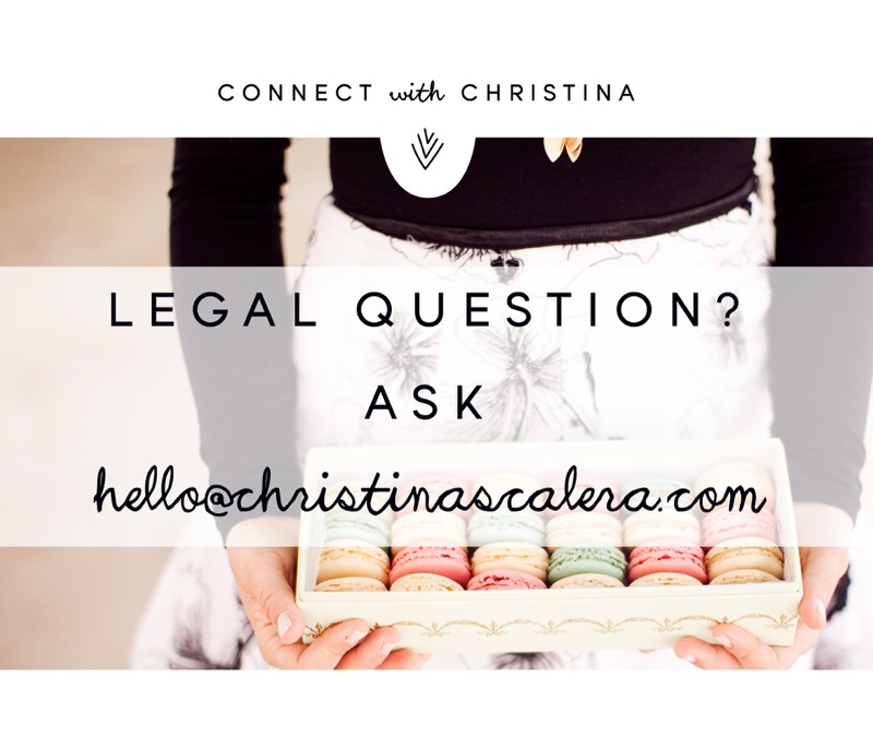 Need legal assistance with your creative business? Christina's your go-to!