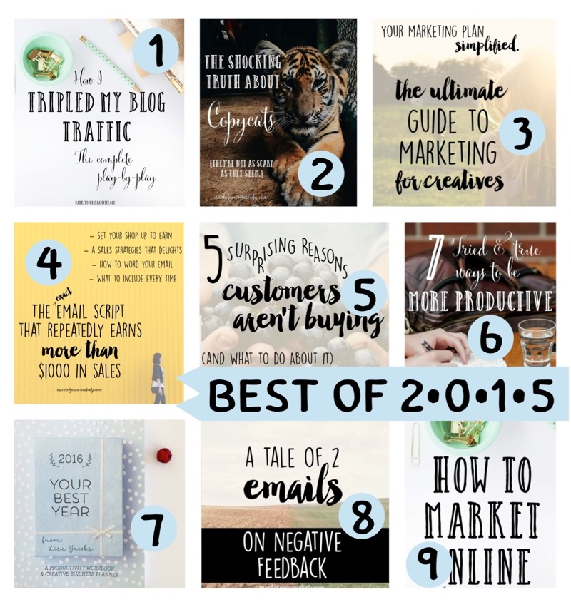 Best of 2015 on Marketing Creativity by Lisa Jacobs