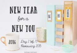 Reviewing 2015 on Day 2 of New Year for a New You