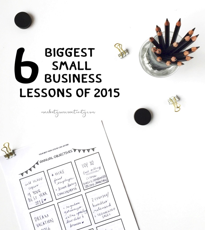 6 biggest small business lessons of 2015!