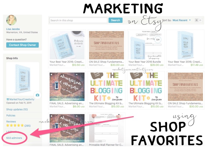 Marketing on Etsy Using Shop Favorites