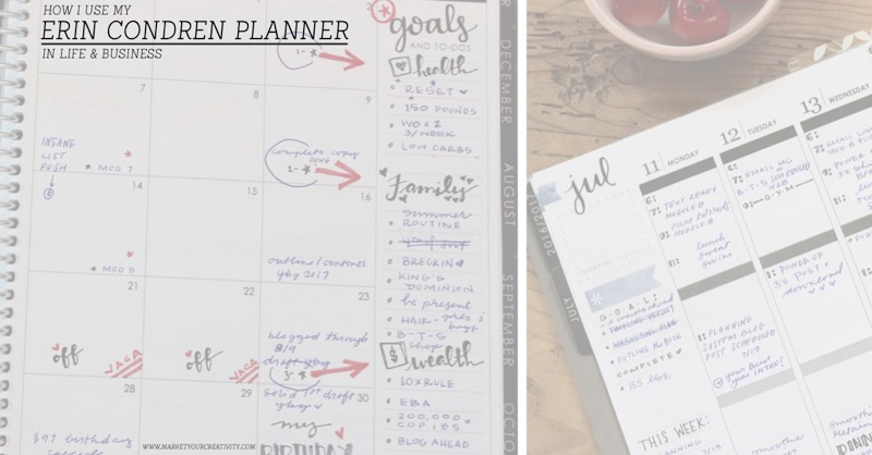 How I use my Erin Condren planner in life and business