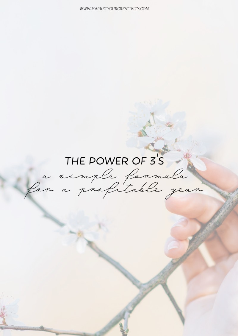 The Power of 3's: A simple formula for a profitable year