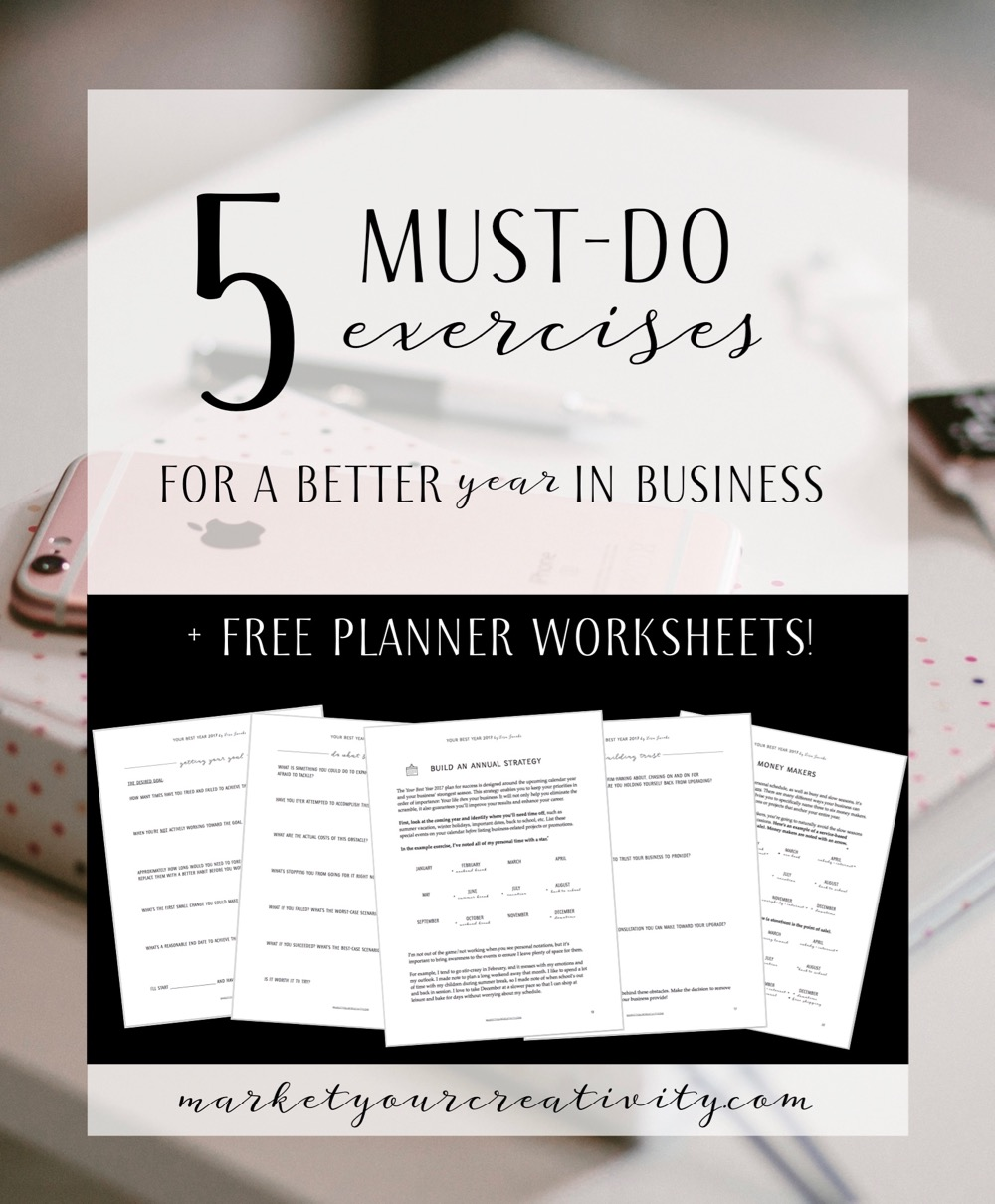 5 must-do exercises for a better year in business + free bonus worksheets