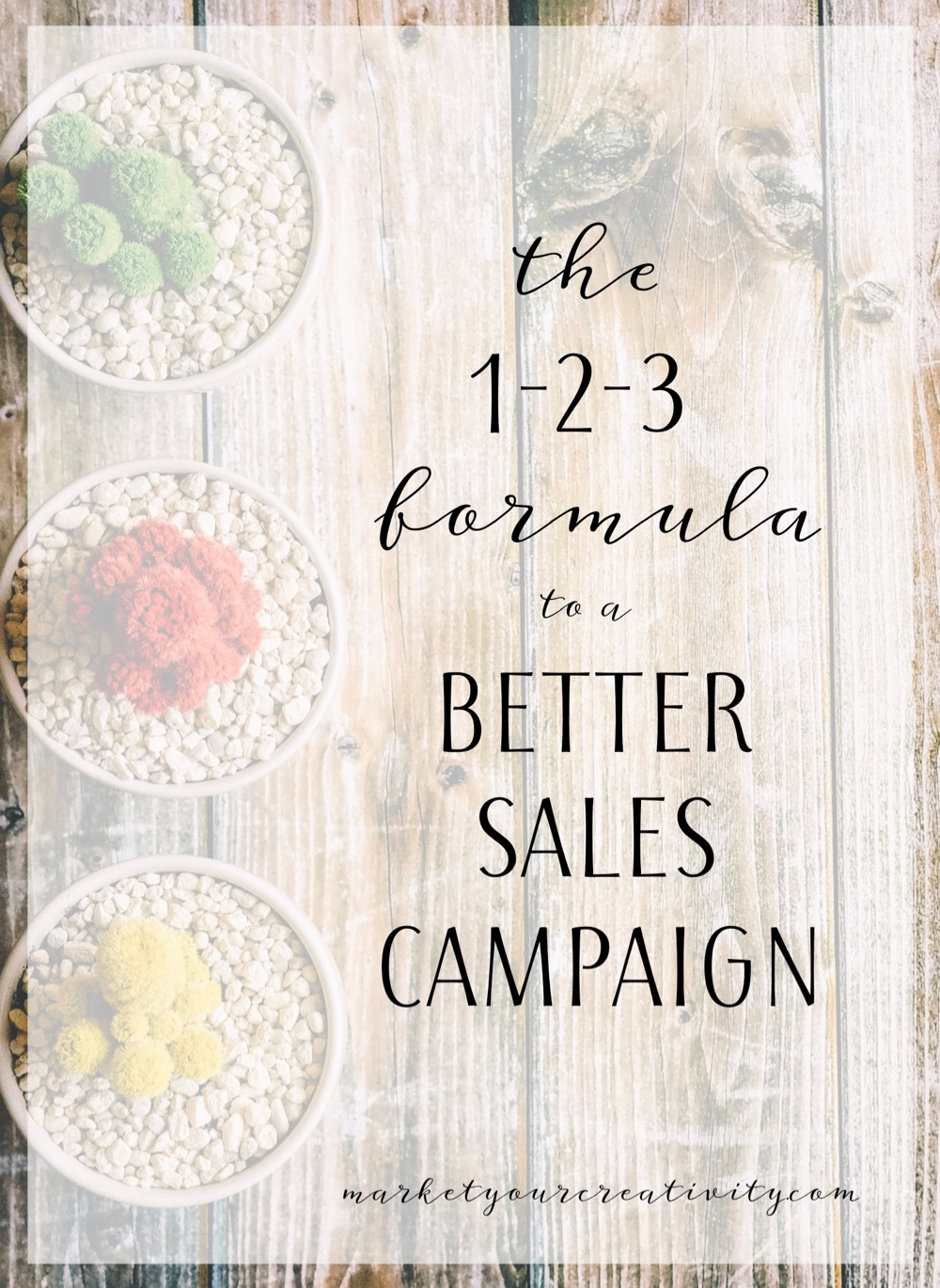 1-2-3 Formula to a better sales campaign