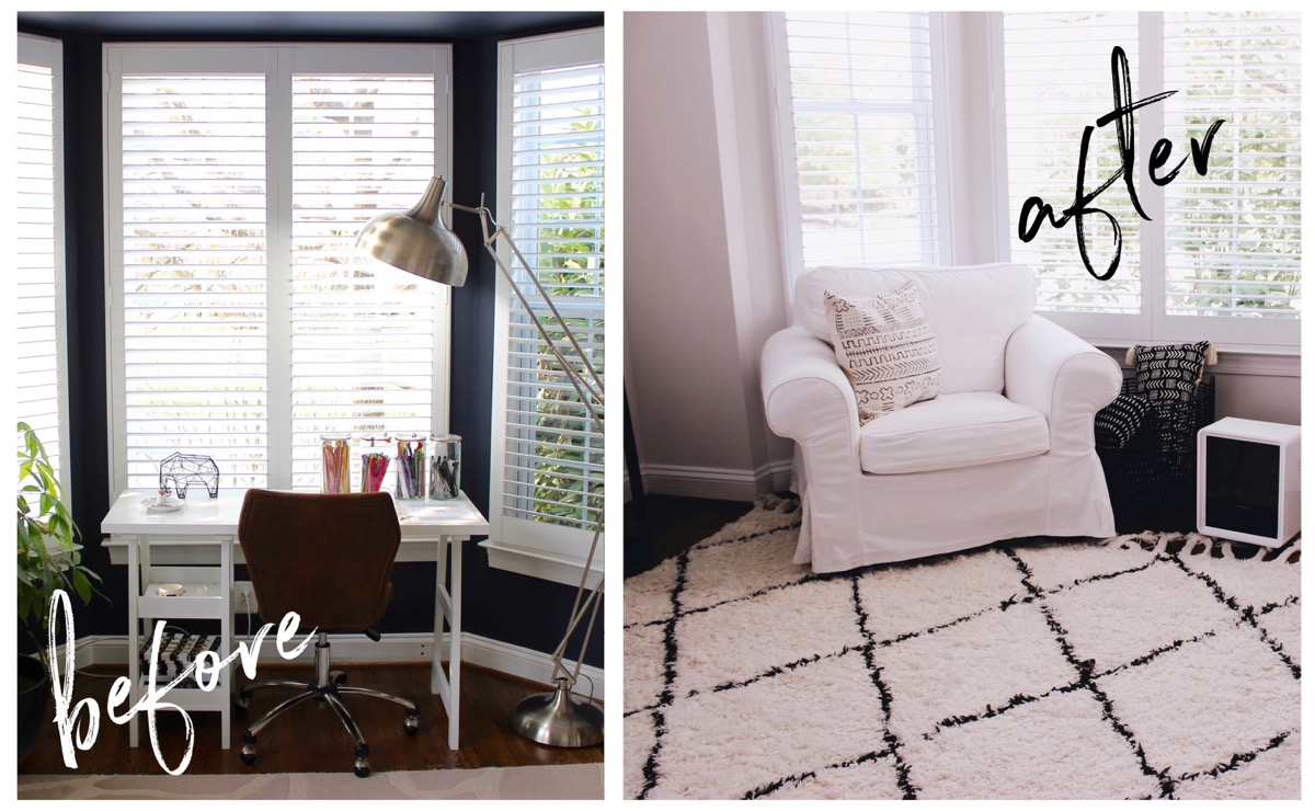 before and after window nook