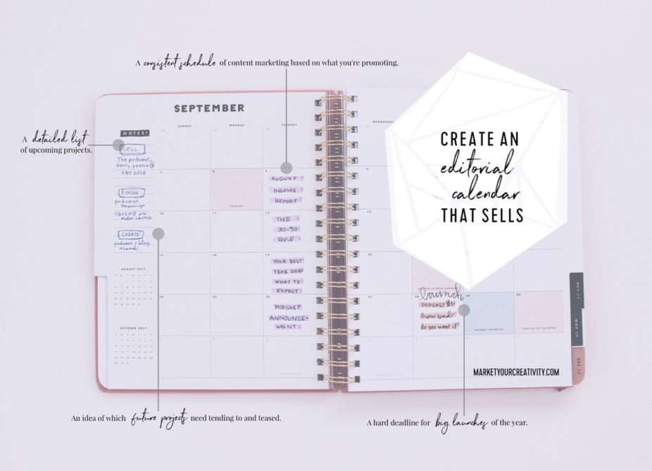 Create an editorial calendar that sells