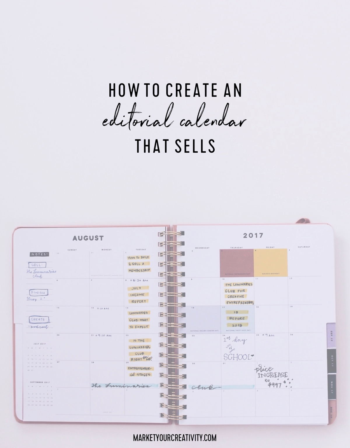 How to create an editorial calendar that sells