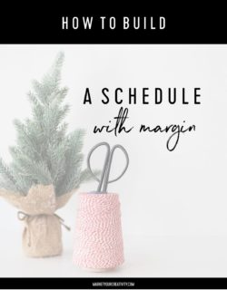 schedule with margin
