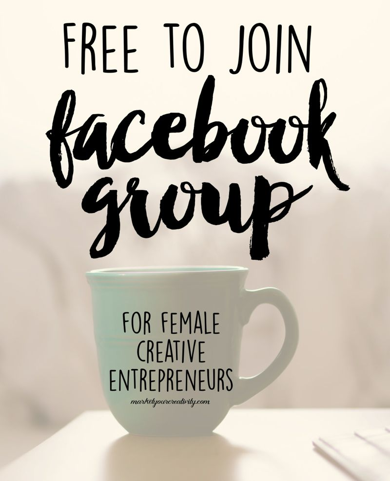 Free to join Facebook group for female creative entrepreneurs to boost your reach online